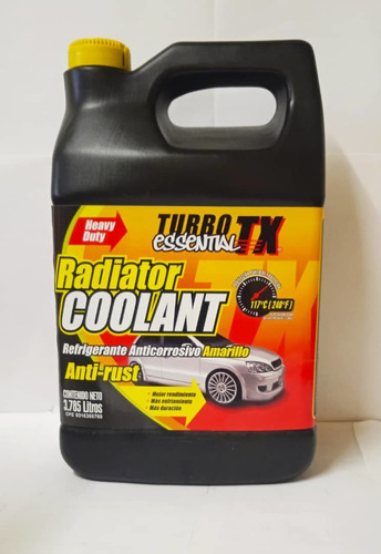 Refrigerante Anticorrosivo Amarillo. Turbo Tx Essential