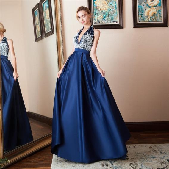 Vestido Azul Rey Largo Para Boda Ropa Y Accesorios En
