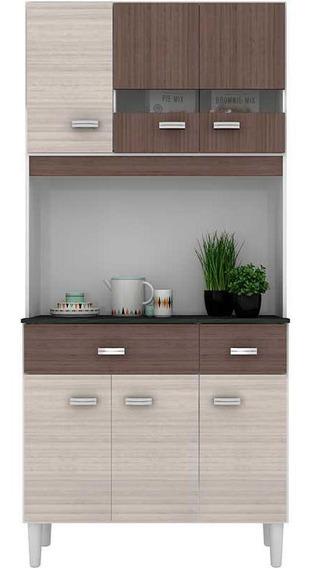Cozinha Compacta 6 Portas E 2 Gavetas Manu - Poquema