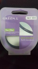 Filtro Estrela 6 Pontas Green.l 52mm