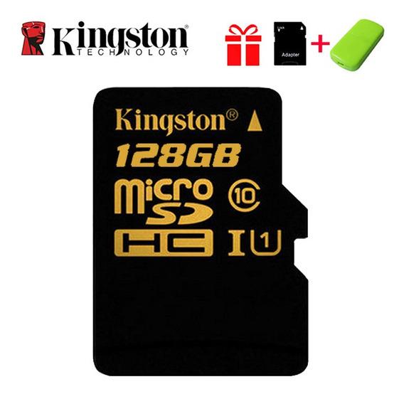 Kingston Micro Sd C10 Cartão De Memória 128 Gb U1 Até 80mb/s