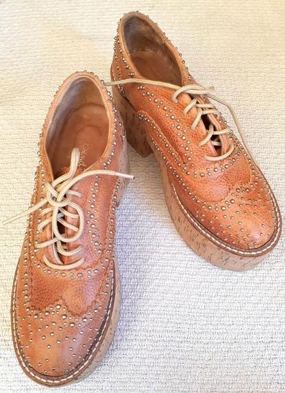 Zapatos Bendito Pie Con Tachas Talle 35 Como Nuevos