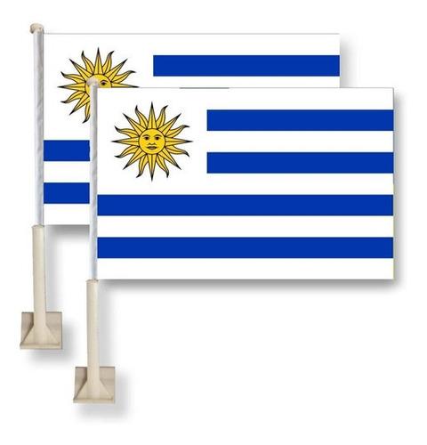 Bandera Uruguay Para Auto -30x45 Cm - Alentar A La Celeste!