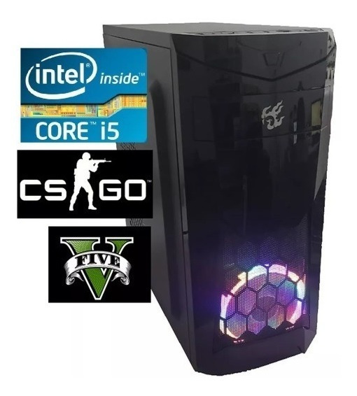 Cpu Pc Gamer Intel Core I5 3470 3.6ghz Ssd 240gb 8gb Ram Led