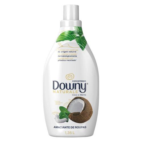 Amaciante Downy Naturals Coco e menta em frasco 1.35 L