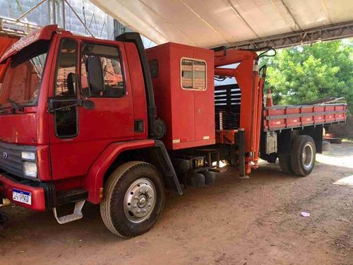 Ford Cargo 1215 Com Munck  E Cabine Extra