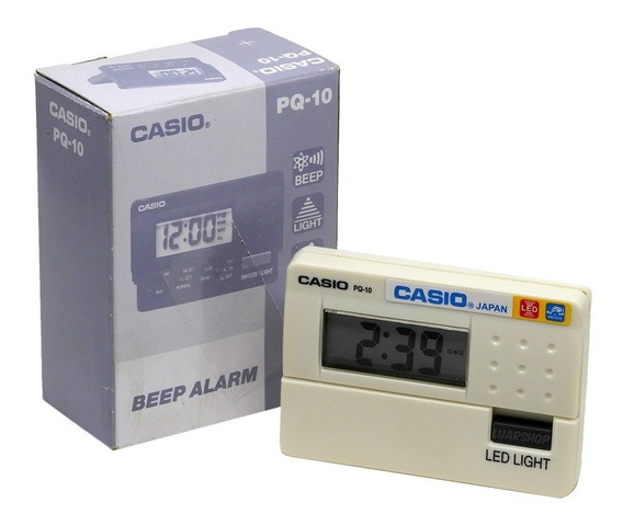 Relógio Mini Despertador Digital Casio Pq-10 Original Nf