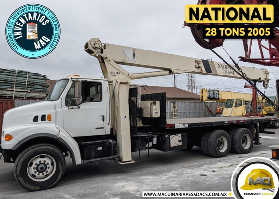 National 28 Tons Grua Titan - Camion Sterling 2005