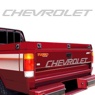 Adesivo Chevrolet Faixa Traseira D20 Prata Modelo Original