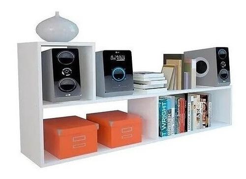 Mueble En L Mesa Tv Organizador Biblioteca Moderno