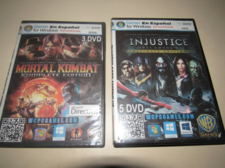 Mortal Kombat Komplete Edition + Injustice Ultimate Ed Pc