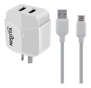 Cargador De Pared Nisuta + Cable/ Micro Usb/ Tipo C/ iPhone