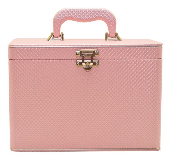 Álbum Fotográfico Maleta Box Luxo Rosa 480 Fotos 10x15