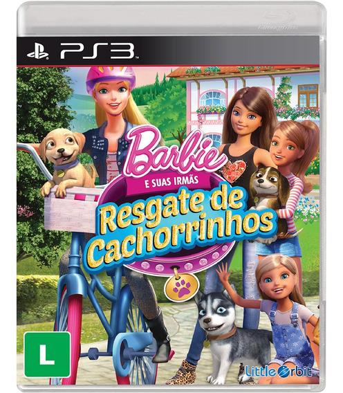 Jogo Novo Barbie E Suas Irmãs Resgate De Cachorrinhos Ps3