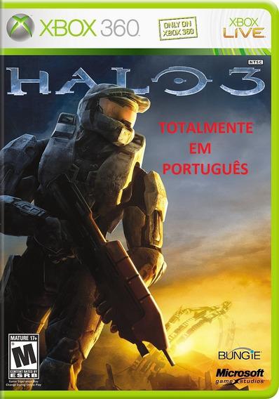 Jogo Halo 3 Xbox 360 Em Portugues Novo Lacrado Midia Fisica