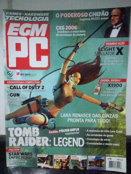 Revista Egm Pc 9 C/ Poster Duplo Tomb Raider - Conrad Rjhm