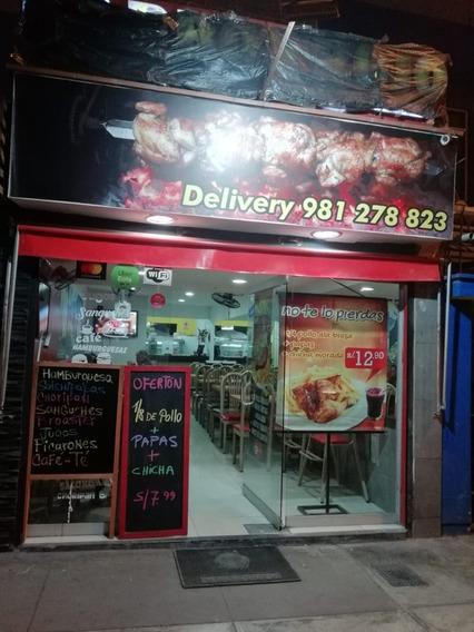 Traspaso / Venta Polleria Restaurante En La Victoria Remate