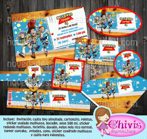 Kit Imprimible Candy Bar Toy Story Woody Editable