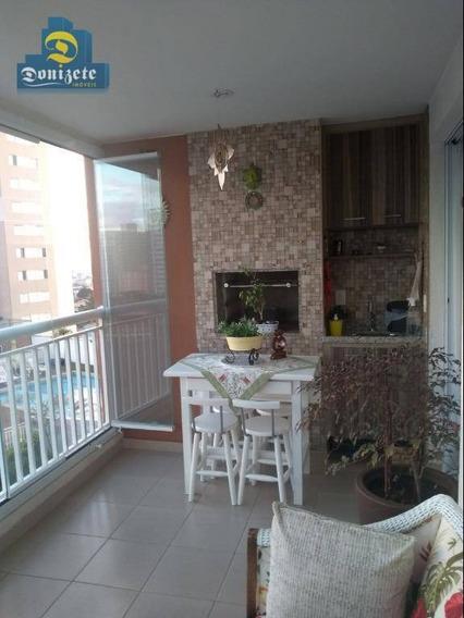 Apartamento Com 3 Dormitórios À Venda, 94 M² Por R$ 579.000,00 - Vila Valparaíso - Santo André/sp - Ap9598