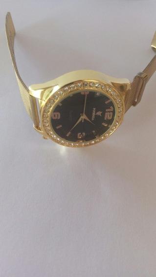 Relógio De Pulso Feminino Cor Dourada