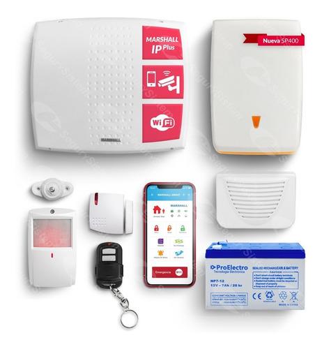 Kit Alarma Domiciliaria Casa Marshall Wifi Ip Internet App Celular Sirenas Sensor Inalámbrico Garantía