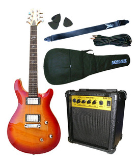 Combo Guitarra Electrica Crimson Seg268 Prs + Amp 10w
