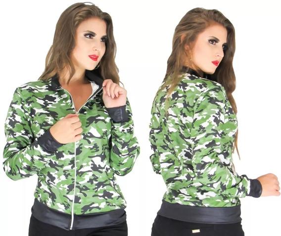 Jaqueta Bomber Camuflada Feminina Ref:802