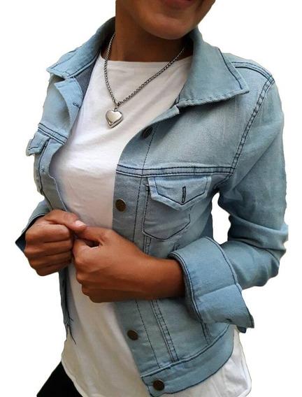 Camperas Jeans Elastizadas Mujer Perlas