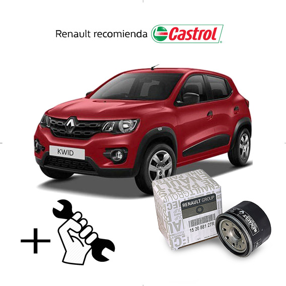 Cambio Filtro + Aceite Castrol 10w40 Renault Kwid 1.0 B4d