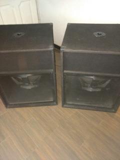 Bafles De Graves 18 Invertidos X Pro 600 Rms
