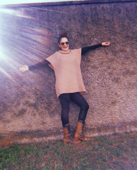 Colete Blusa Vestido Tricot Lã Gola Rolê Veste M Pandeluc