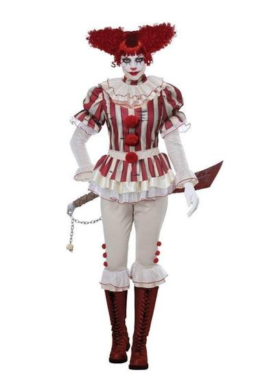 Disfraz Mujer Payaso Sádico Halloween Talla Xs