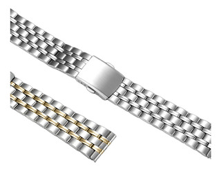 Pulseira De Relógio Geral De Aço Inoxidável 20mm Unissex