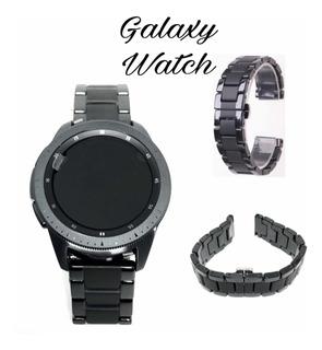 Pulseira Galaxy Watch Bt 42mm Inox Com Brilho E Faixa Fosco