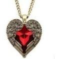 Colar Da Jóia Da Forma De Coração Vermelho Em Forma Pingente