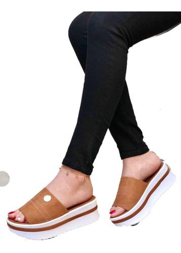 Hermosa Sandalia Para Dama De Plaforma Tejida, Calidad