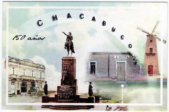 Postal Oficial Correo Argentino - 150 Años Chacabuco