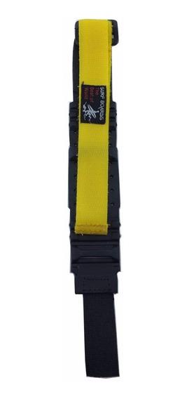 Pulseira Relógio Pano Amarela Com Borracha Varias Cores