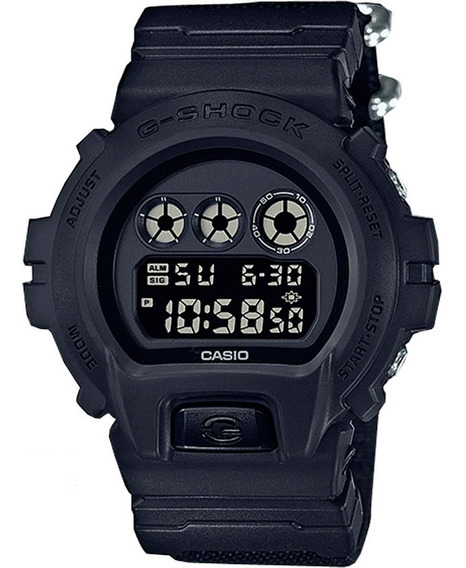 Relógio Casio - G-shock - Pulseira De Lona - Dw-6900bbn-1dr