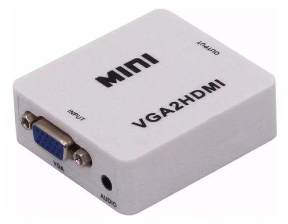 Conversor Convertidor Adaptador Vga A Hdmi Con Audio Tucuman