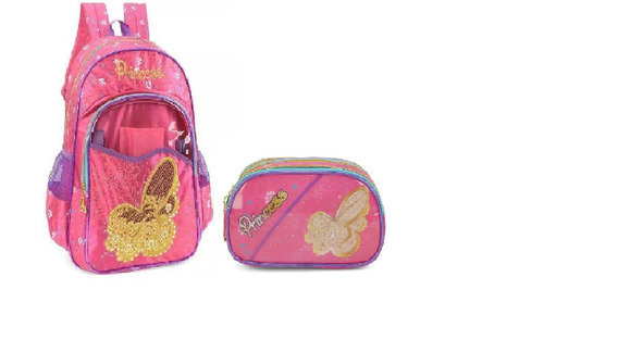 Kit Mochila + Estojo Princess 32793 - Original