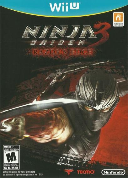 Jogo Ninja Gaiden 3 Razors Edge Nintendo Wii U Frete Grátis