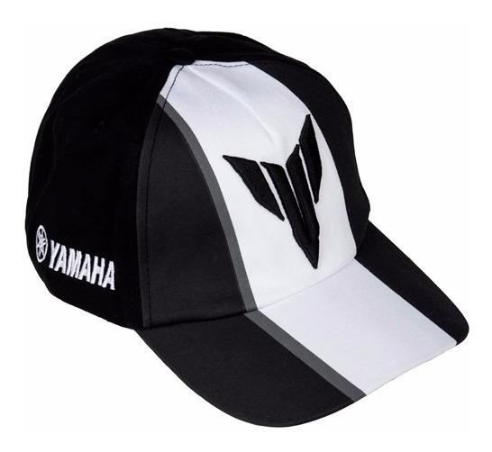 Boné Yamaha Mt Preto/branco Original
