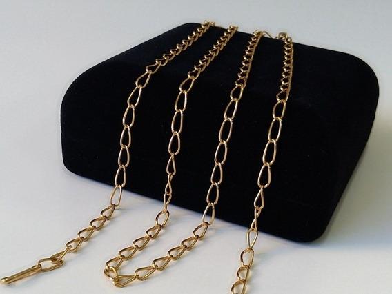 Corrente/colar Groumet Ouro 18k, Unissex 68cm Cert Garantia