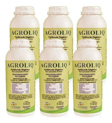Imagen 1 de 1 de Fertilizante Orgánico Agroliq (caja X 6 Unidades)