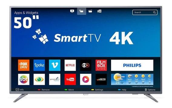 Smart Tv Led 50 Philips 50pug6513/78 4k Uhd Wi-fi 3hdmi 60hz