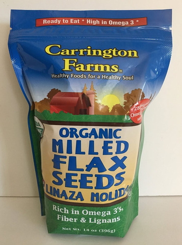 Carrington Farms, Semillas Orgánicas Linaza Molida, 14 Oz. (