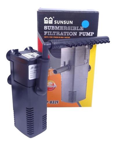 Filtro Int. C/ Bomba Sunsun Jp-032f 350l/h 110v Aquario 70lt