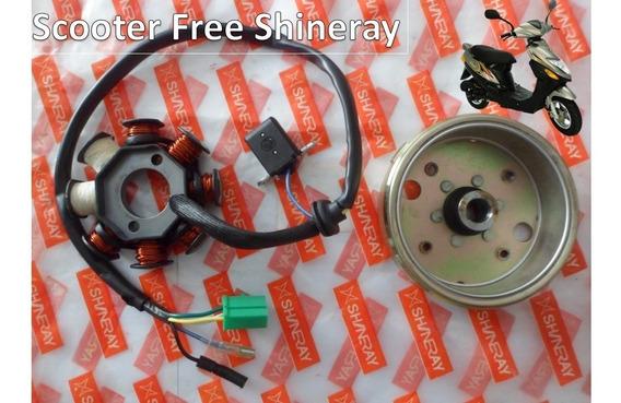 Estator Scooter Compl. + Volante Magneto Shineray Free 50cc