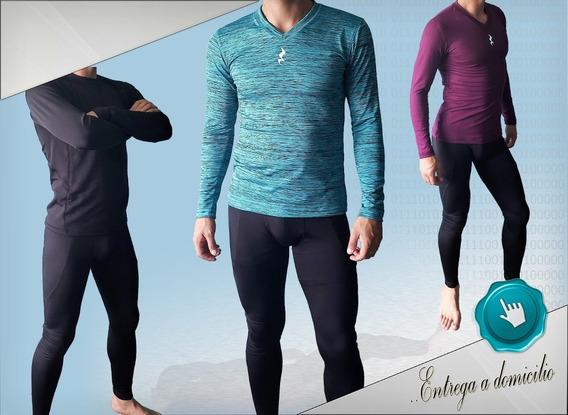 Lycra Deportiva De Compresión Para Hombre Buso Pantalon Gym